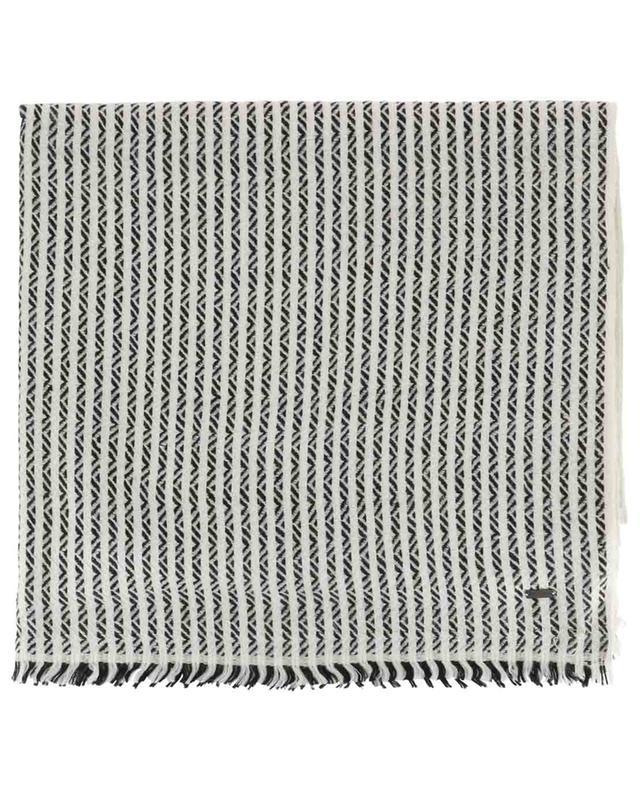 Striped woven cashmere scarf SAINT LAURENT PARIS