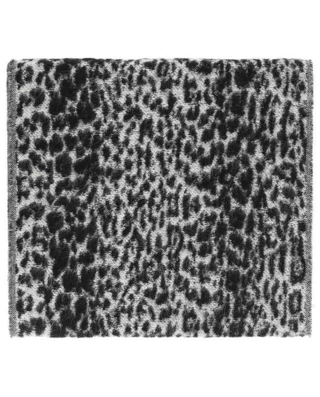 Mohair blend leopard stole SAINT LAURENT PARIS