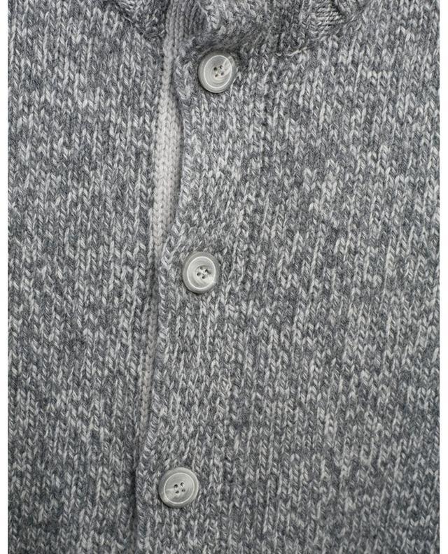 Cardigan boutonné épais chiné à col montant GRAN SASSO