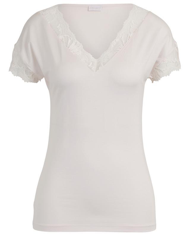 T-shirt en modal et soie avec dentelle ZIMMERLI