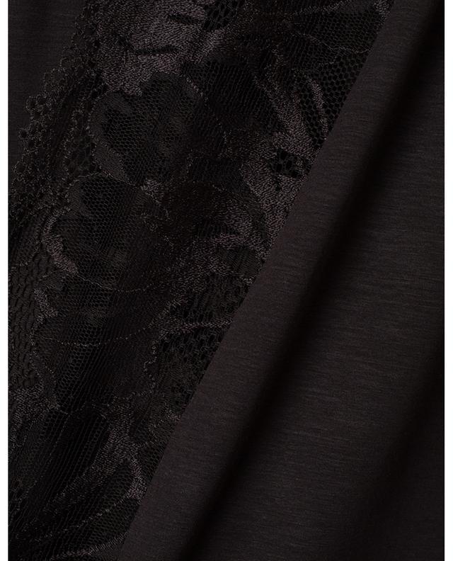 Robe de chambre courte avec dentelle ZIMMERLI