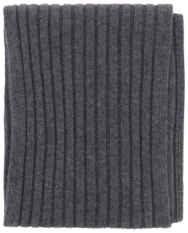 Todd & Duncan cashmere rib knit scarf GRAN SASSO