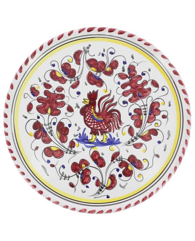 Gallo Rosso L rooster pizza plate PIATAVOLA