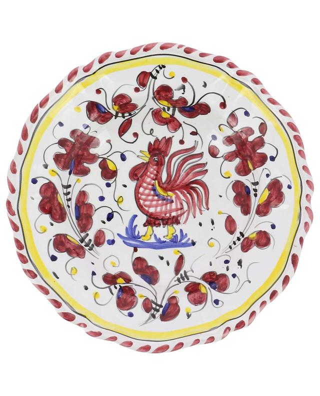 Assiette à pasta motif coq Gallo Rosso M PIATAVOLA