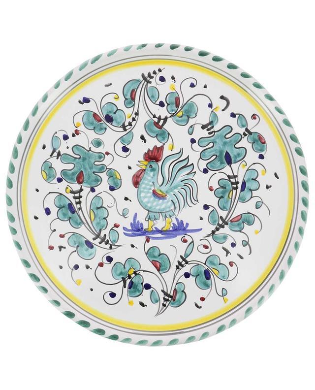 Gallo Verde L rooster pizza plate PIATAVOLA