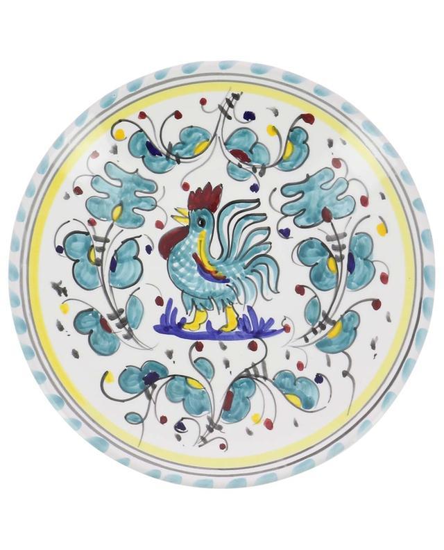 Assiette à antipasti motif coq Gallo Verde S PIATAVOLA