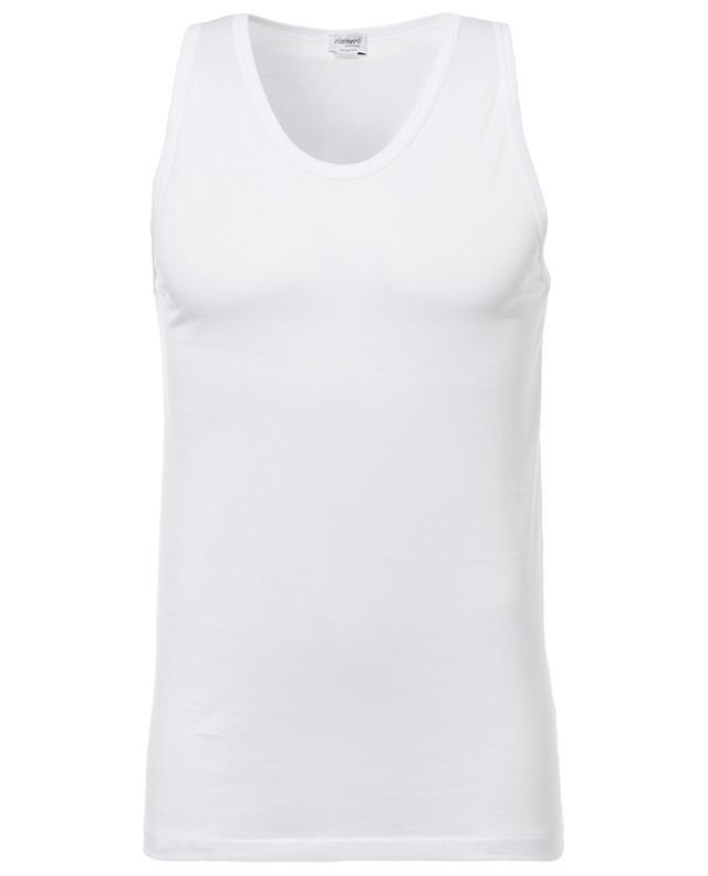 Zimmerli débardeur en coton 252 royal classic blanc a14000