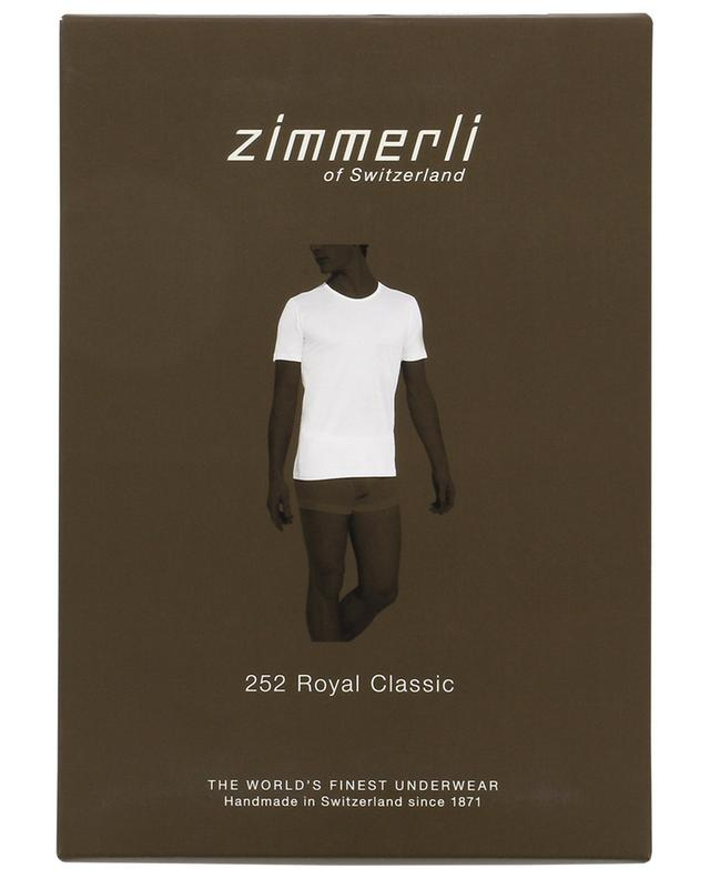 Zimmerli t-shirt en coton 252 royal classic blanc a14002
