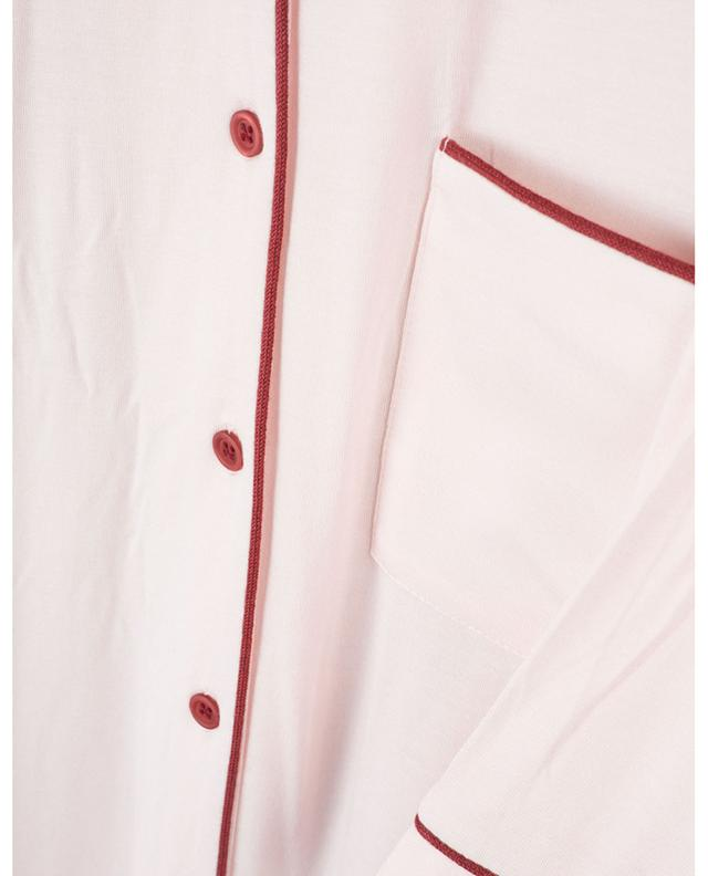 Iluna button-down night shirt with trim PLUTO