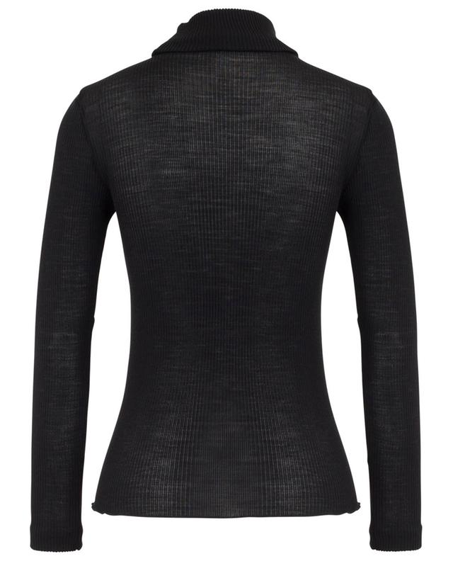 Ribbed long-sleeved top with turtleneck LISANZA