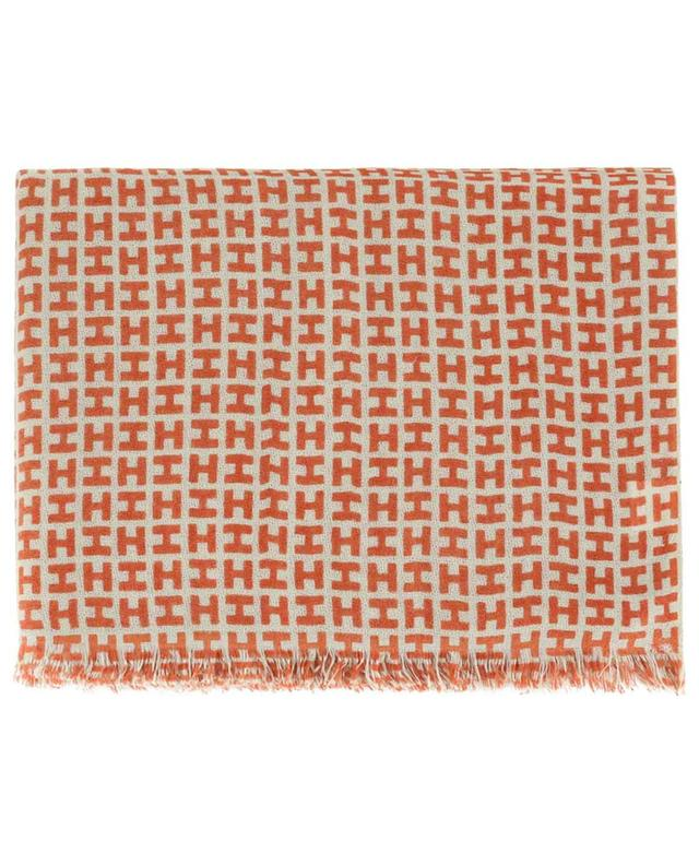 Radegunde monogrammed cashmere scarf HEMISPHERE