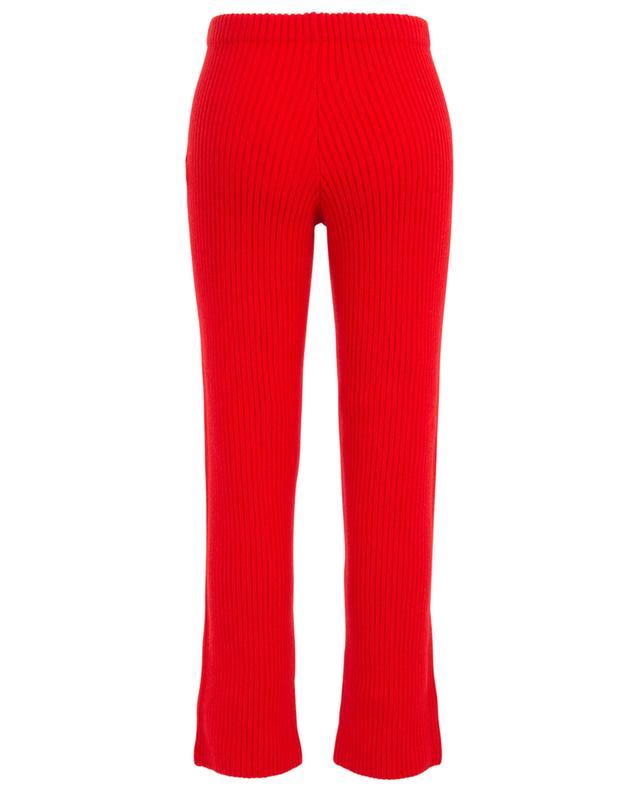 Pantalon droit en maille côtelée BALENCIAGA