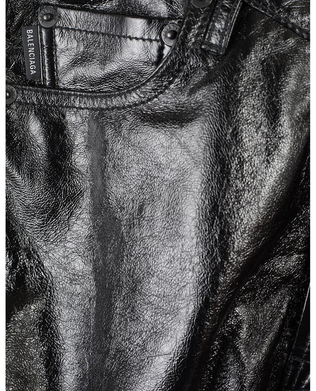 Minirock aus glänzendem Nappaleder BALENCIAGA