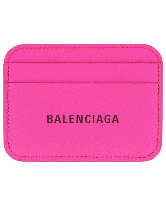 Porte-cartes en cuir texturé Cash BALENCIAGA