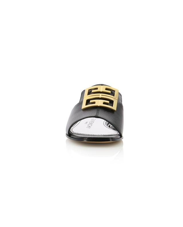 4G flat grained leather mules GIVENCHY