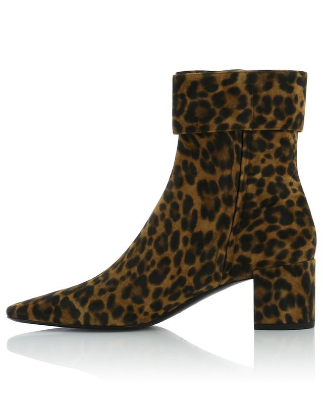 Joplin 50 heeled leopard ankle boots SAINT LAURENT PARIS
