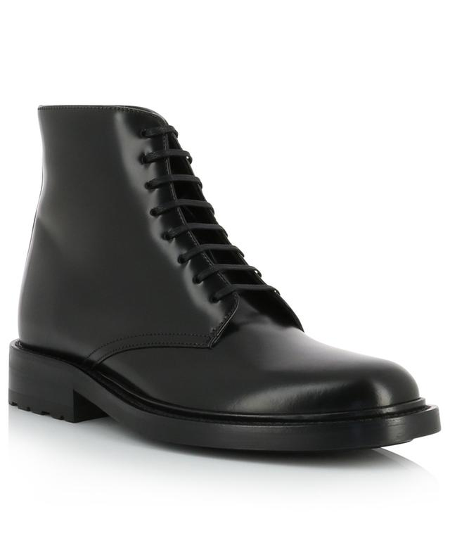 Army 20 shiny leather lace-up ankle boots SAINT LAURENT PARIS