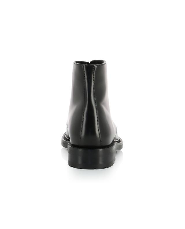Army 20 shiny leather lace-up ankle boots SAINT LAURENT PARIS