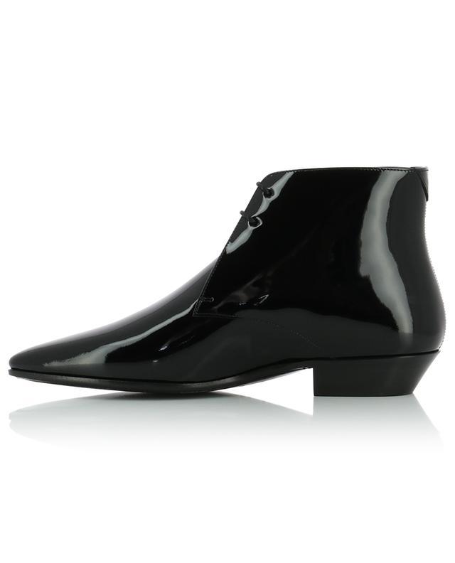 Jonas 25 pointy patent leather lace-up ankle boots SAINT LAURENT PARIS