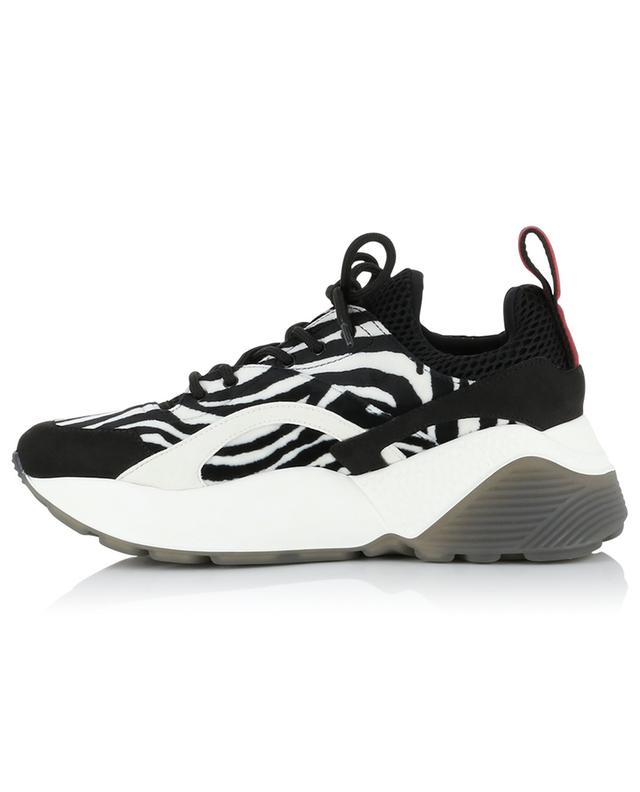 Eclypse zebra print lace-up velvet sneakers STELLA MCCARTNEY
