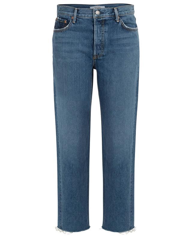 Helena straight fit raw edge jeans GRLFRND