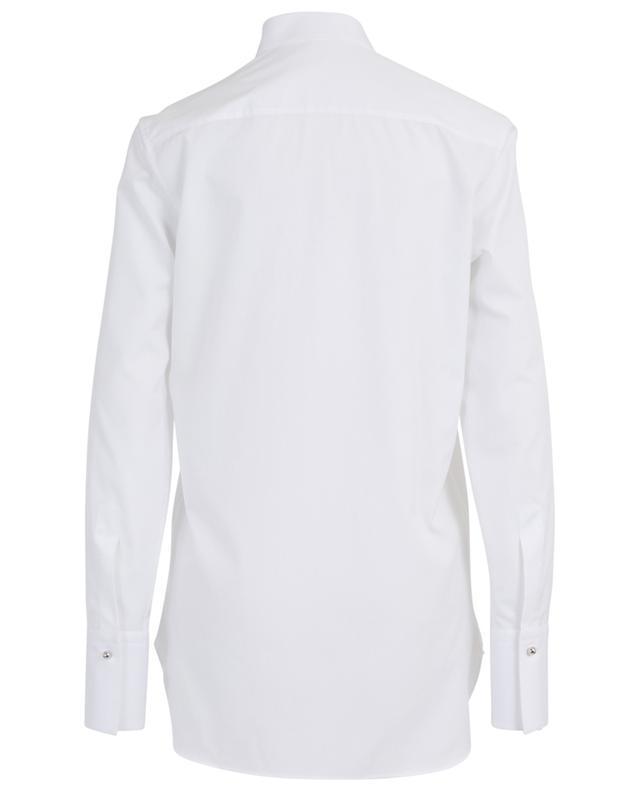 Long tuxedo spirit shirt adorned with rhinestone ERMANNO SCERVINO