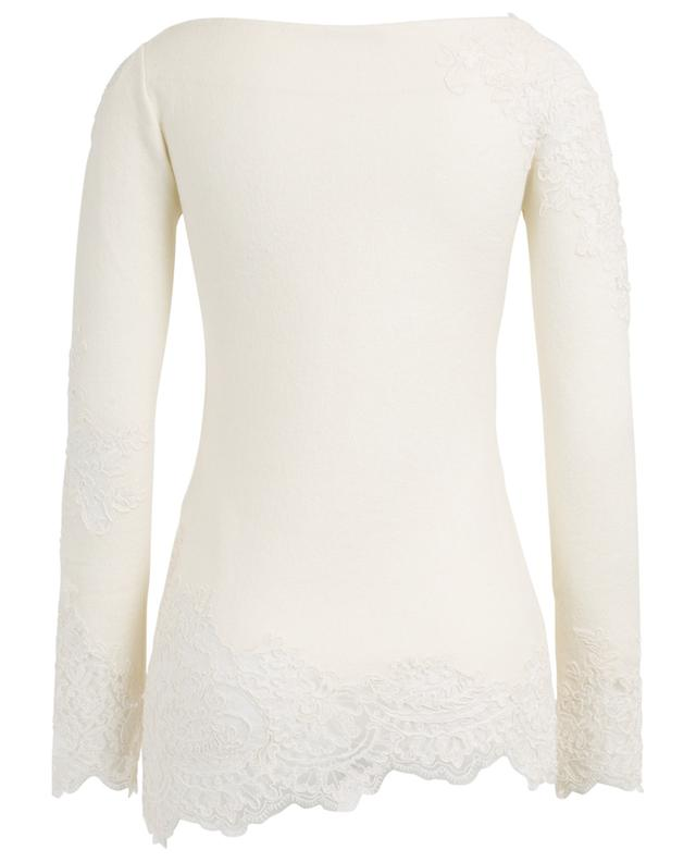 Wool blend jumper with lace ERMANNO SCERVINO