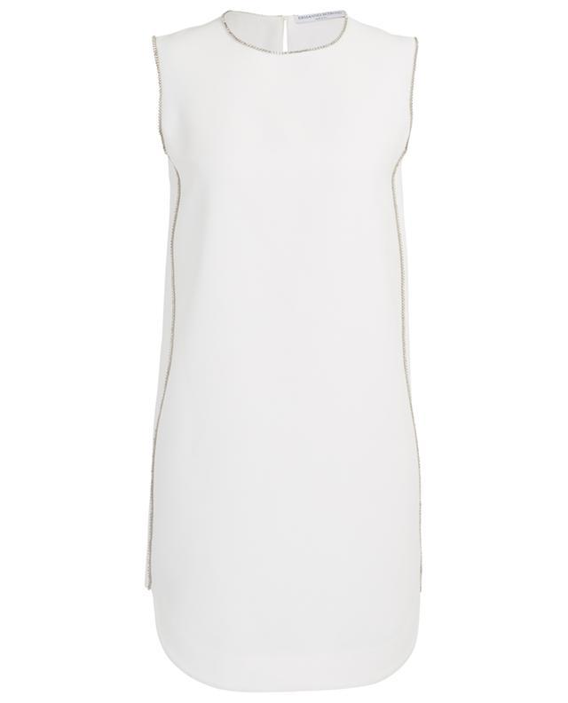 Crystal embellished sleeveless mini dress in crepe ERMANNO SCERVINO