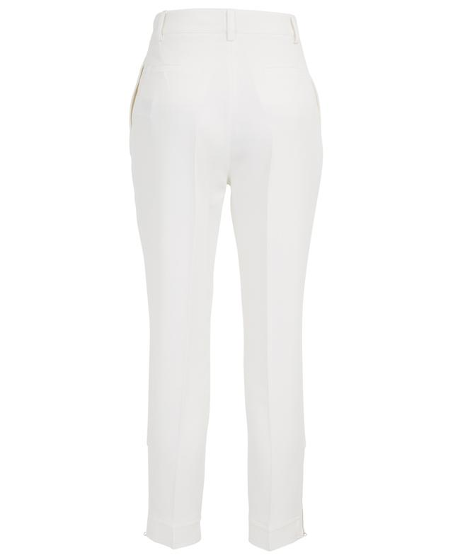 Tapered crepe trousers with ankle zippers ERMANNO SCERVINO