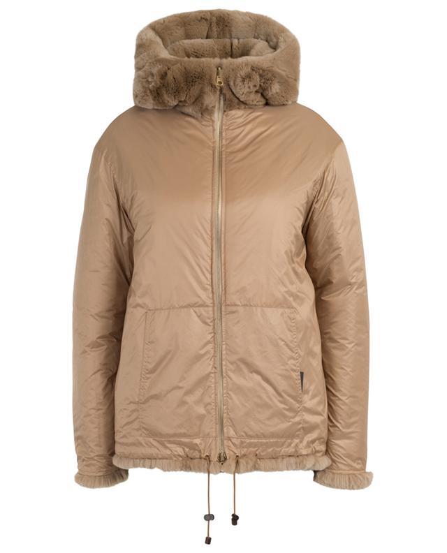 Reversible fur jacket with hood YVES SALOMON
