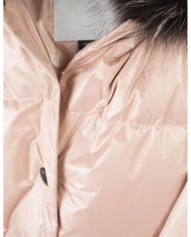 Doudoune à capuche avec fourrure et ceinture YVES SALOMON