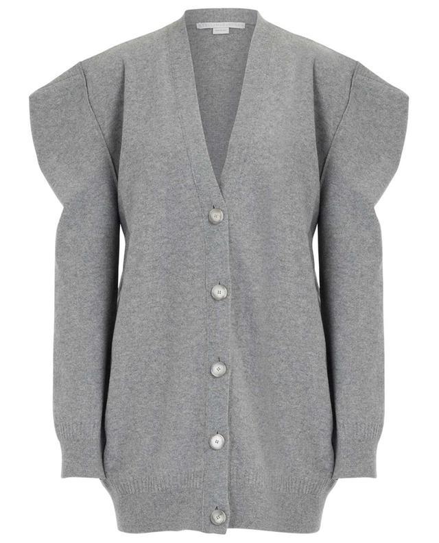 Cardigan en laine bouillie à épaules carrées STELLA MCCARTNEY