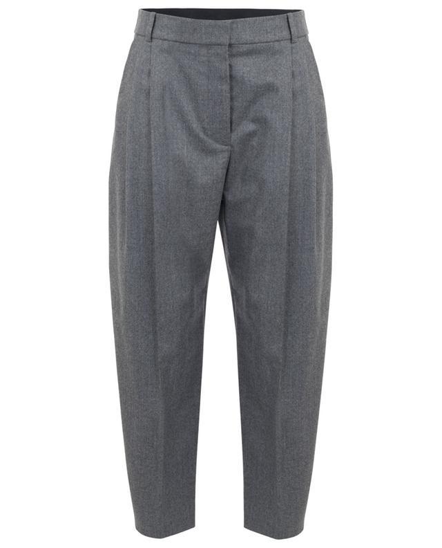 Pantalon carotte raccourci en flanelle de laine STELLA MCCARTNEY