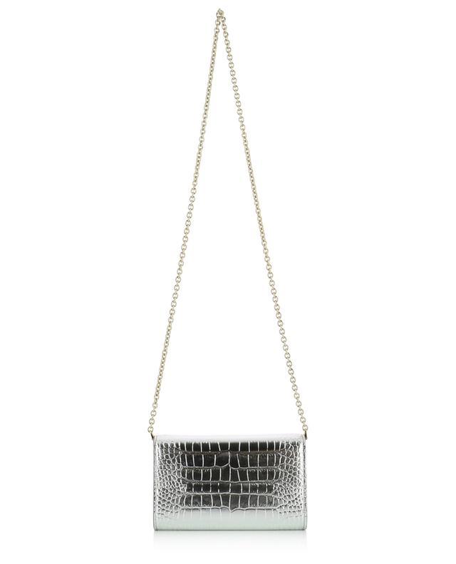 DG Crystal metallic croc effect mini shoulder bag DOLCE & GABBANA