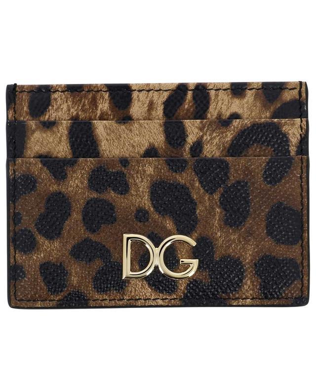 Petit porte-cartes imprimé léopard DG DOLCE & GABBANA
