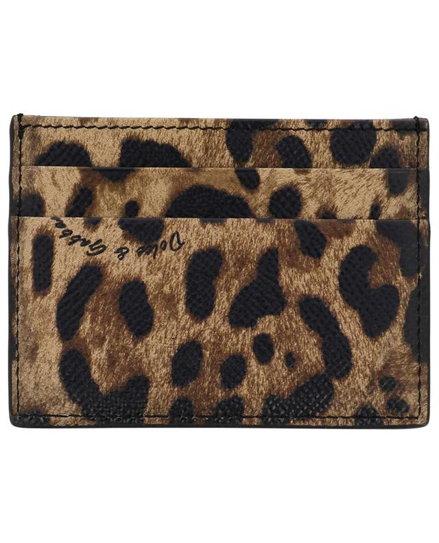 DG small leopard print card holder DOLCE & GABBANA