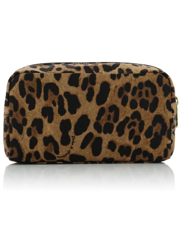 DG small leopard print fabric toiletry case DOLCE & GABBANA