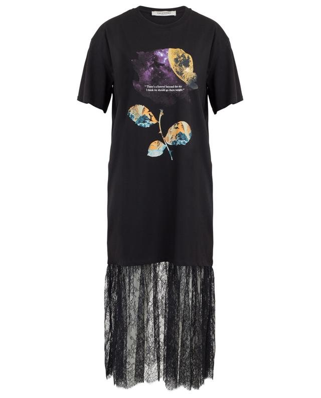 Undercover Cosmos lace adorned T-shirt dress VALENTINO