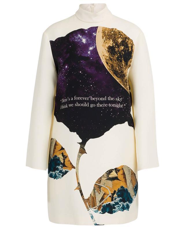 Minirobe en crêpe couture imprimée Undercover Cosmos VALENTINO