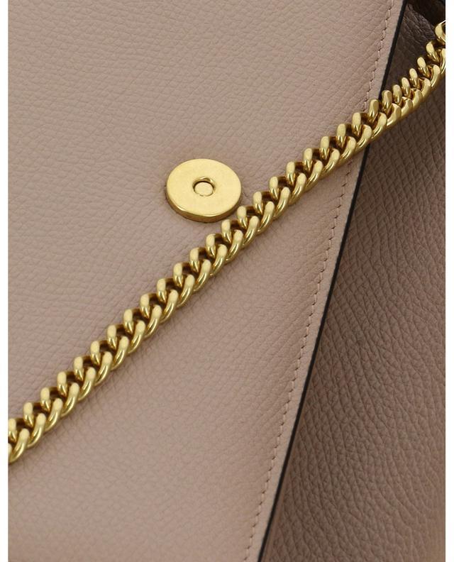 Portefeuille chaîne en cuir texturé VLOGO VALENTINO