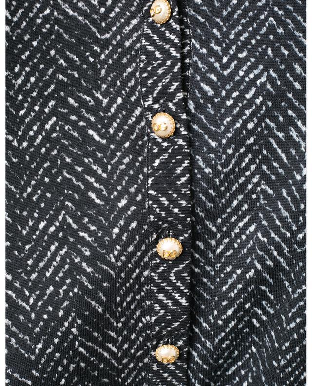 Printed virgin wool cardigan DOLCE & GABBANA