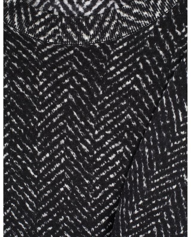 Fitted chevron print fine knit jumper DOLCE & GABBANA