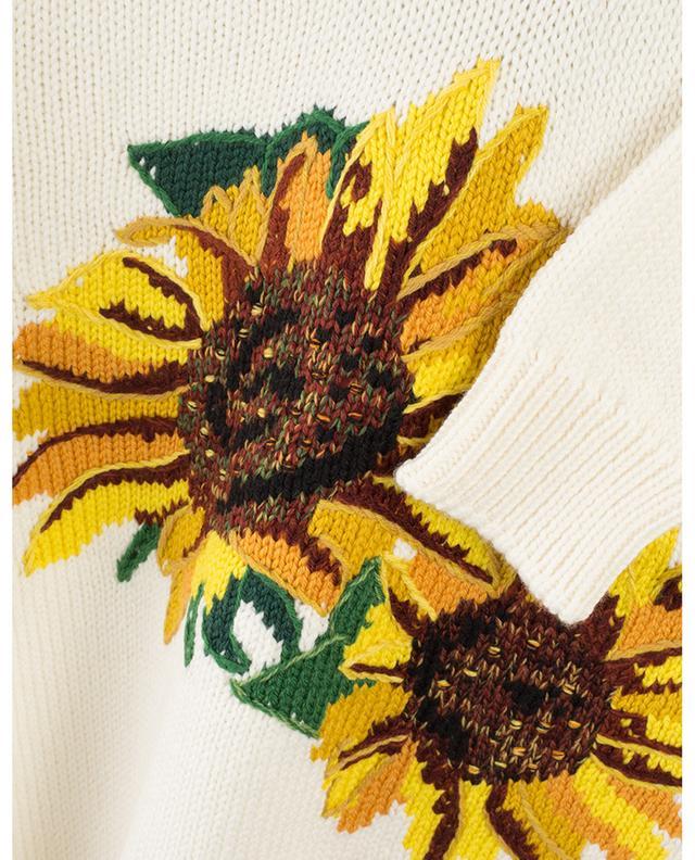 Pull en laine à motifs tournesols DOLCE & GABBANA