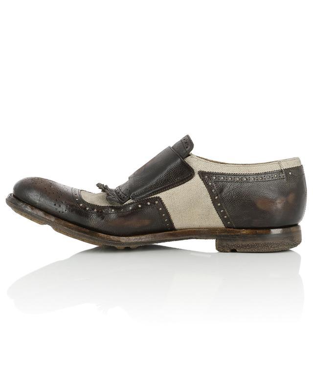 Schuhe aus Segeltuch und Leder im Used-Look Shanghai CHURCH