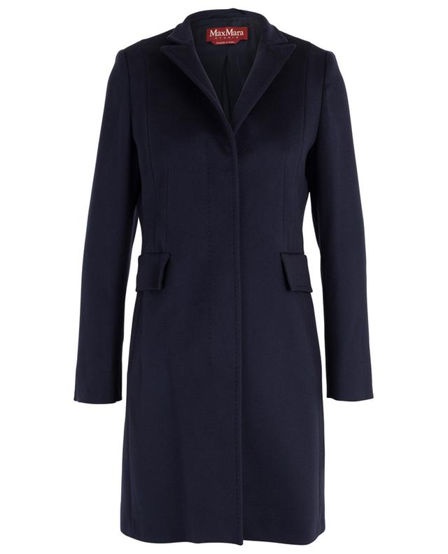 Marengo straight wool coat with stand-up collar MAXMARA STUDIO
