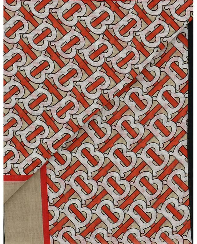 Foulard carré léger TB Monogram Gauze BURBERRY