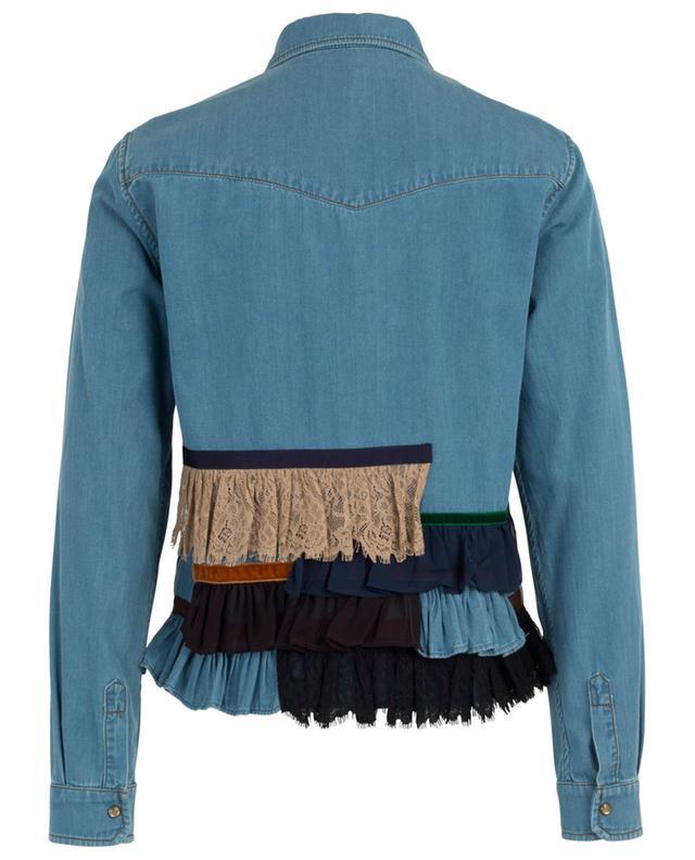 Arabia ruffled denim shirt with lace WEEKEND MAXMARA