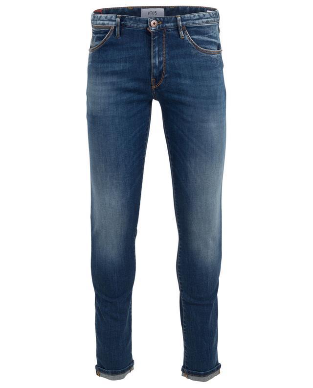 Ausgewaschene Superslim-Jeans Swing PT05