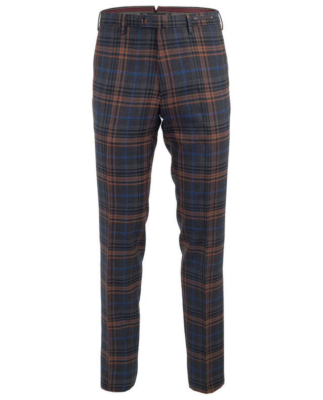 Virgin wool check trousers PT01