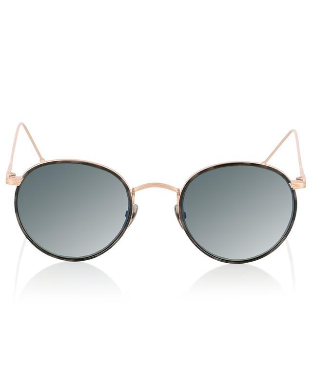 Harvey Sun pink golden tortoise detail sunglasses EDWARDSON